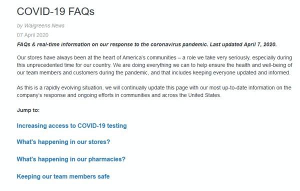 COVID-19 FAQs.