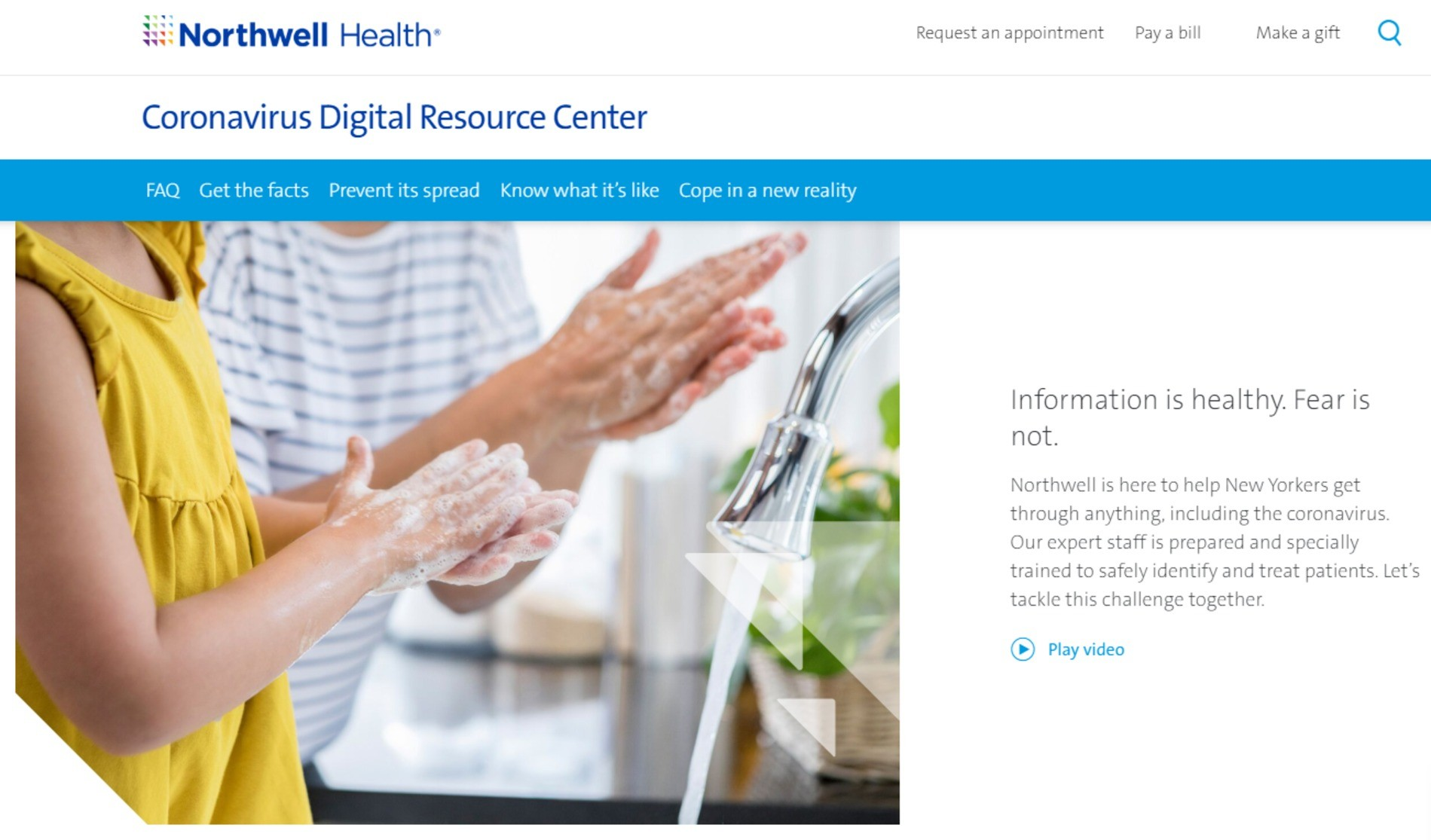 Northwell Health website.