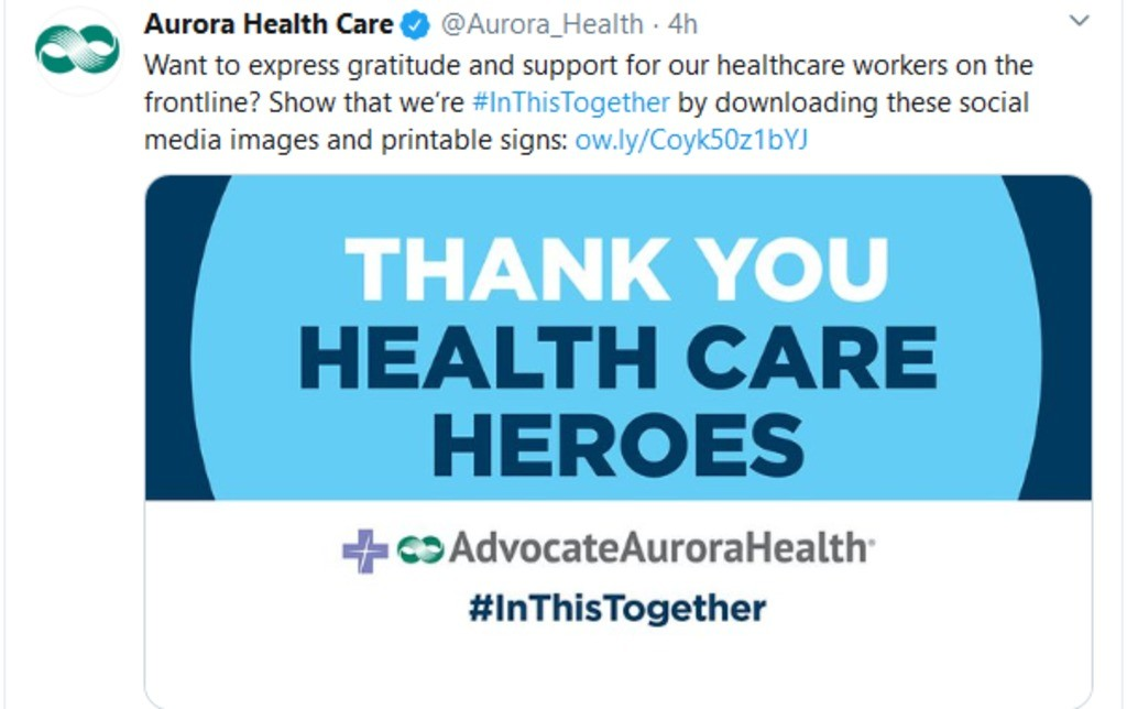 Thank you healthcare heroes.