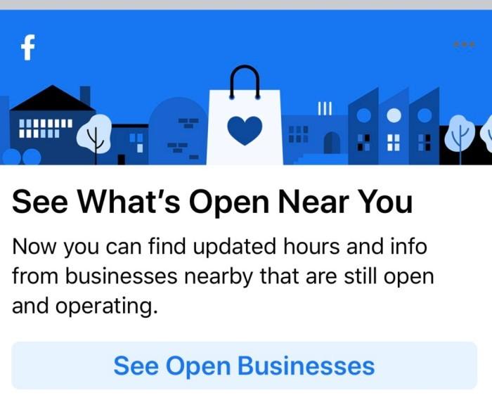 What's open near you screen shot.