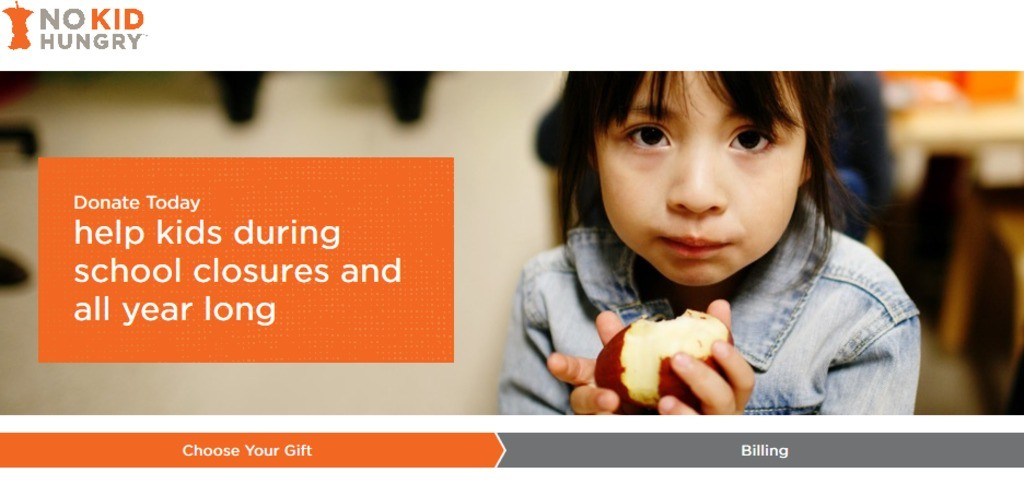 Help kids during school closures note from No Kid Hungry.