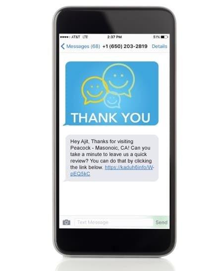 Requesting customer reviews via SMS