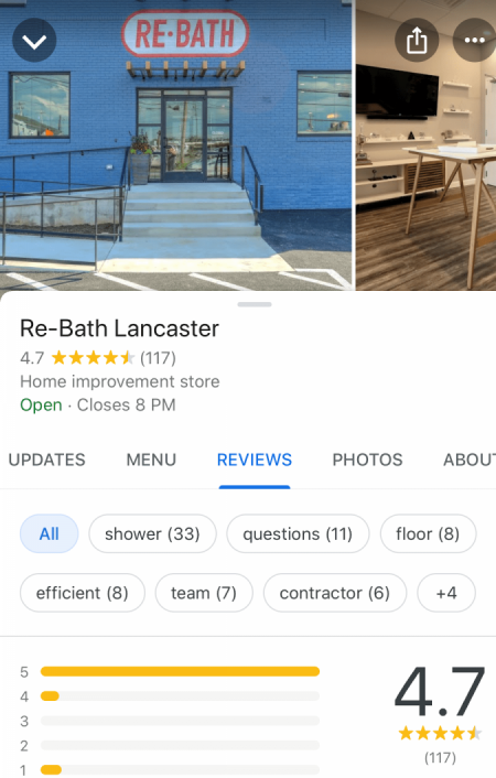 Re-Bath RXM - business listing example