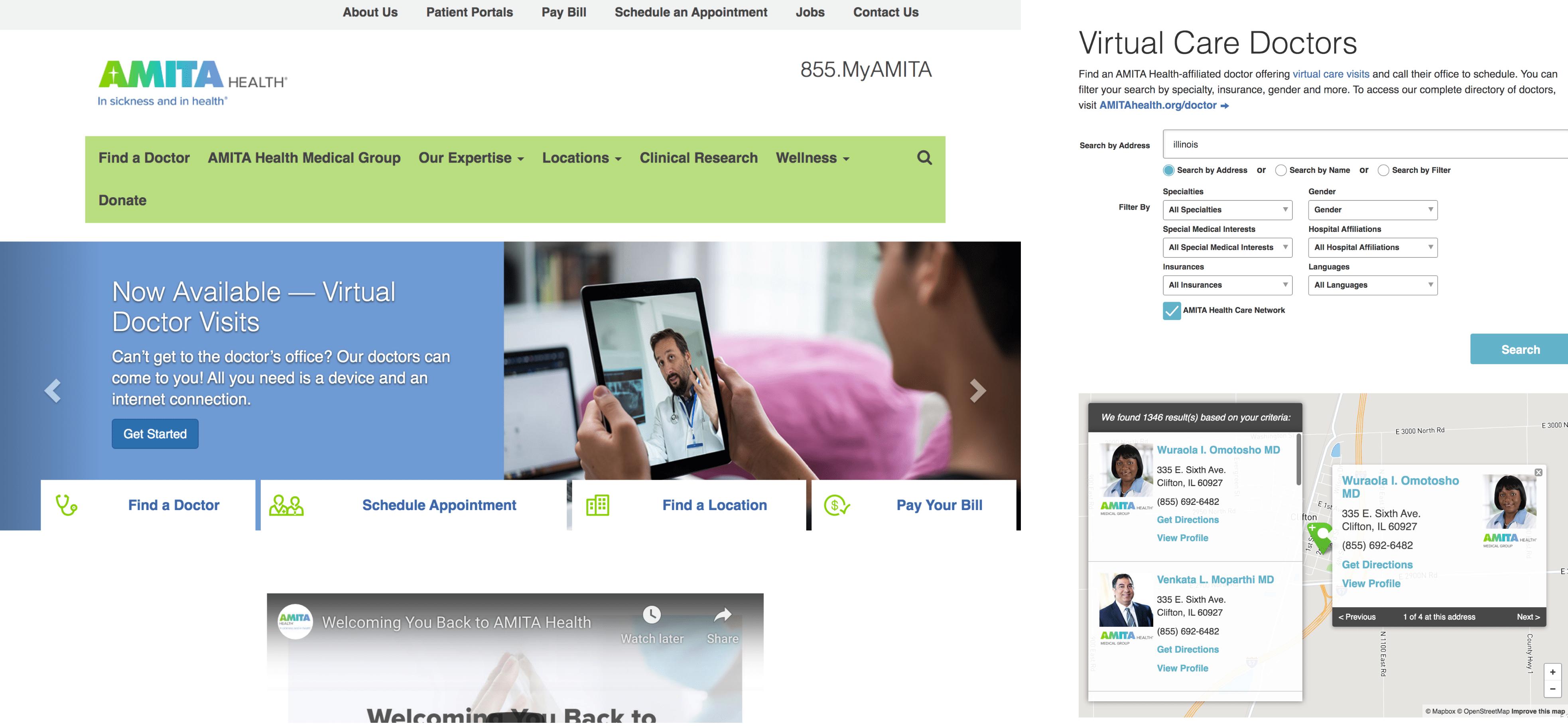 Amita Health RXM - listings module