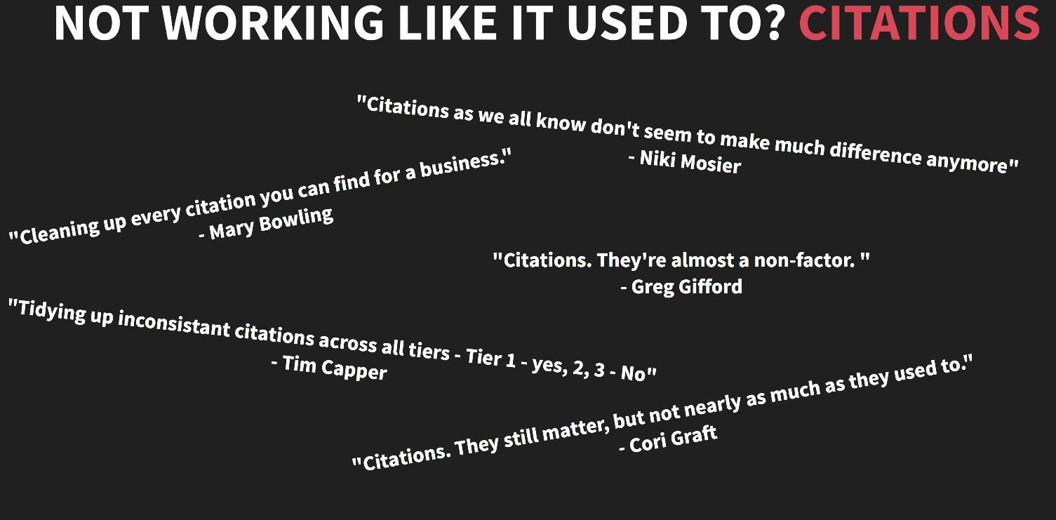 Citations Are Not Working
