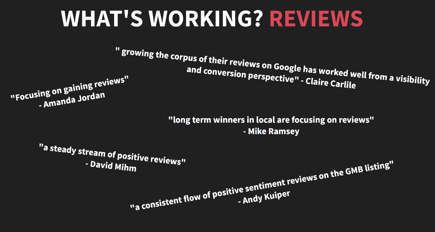 Reviews Are Working