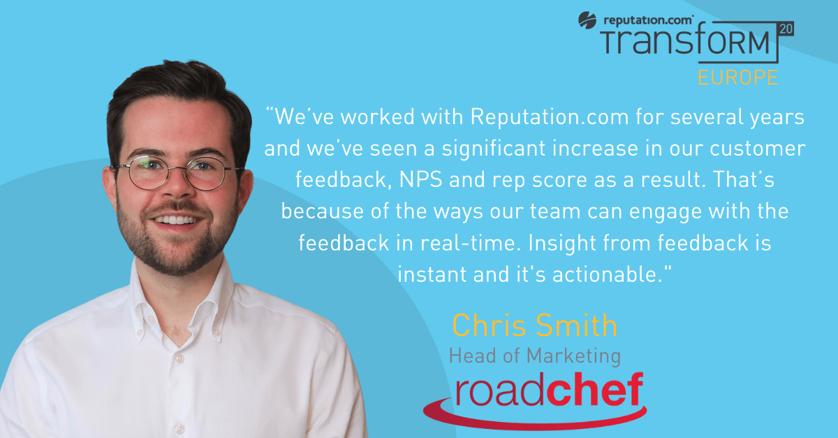 Roadchef's Chris Smith on real-time feedback