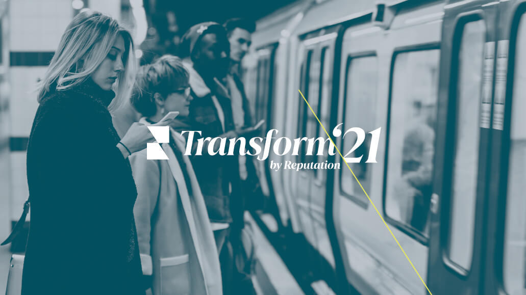 Transform logo woman on train 2