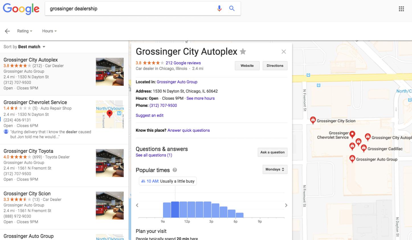 Grossinger City Autoplex GMB Listing