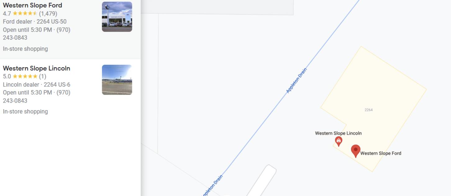 Western Slope GMB Listing