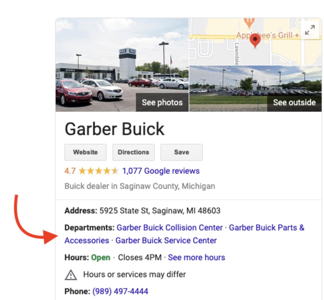 Garber Buick GMB Listing
